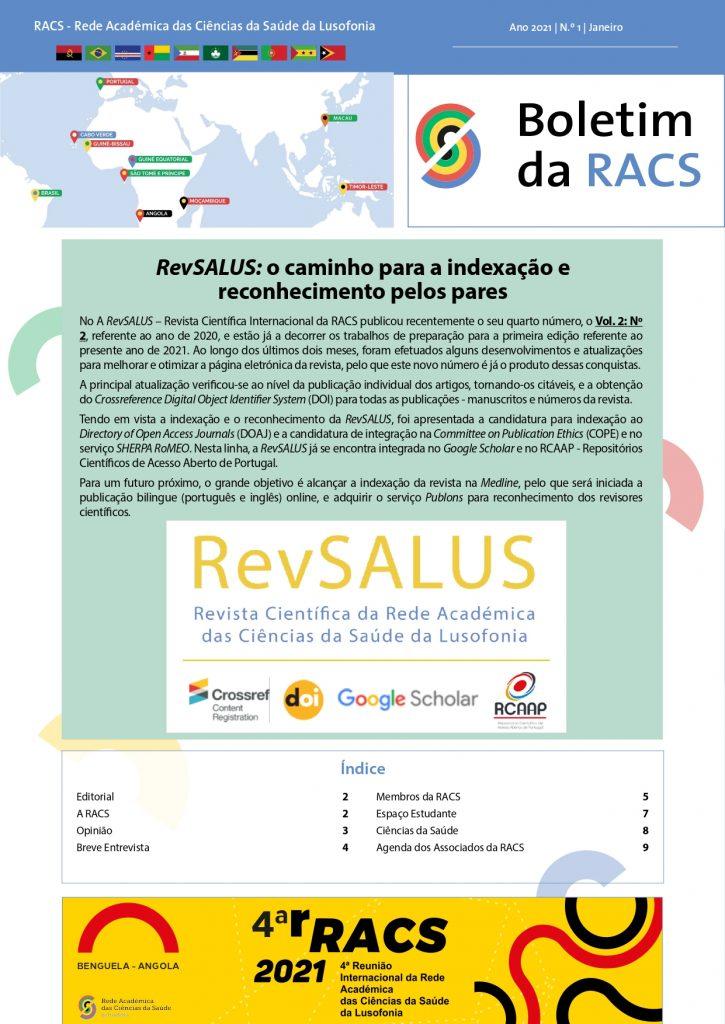 Boletim da RACS - Nº 1 (2021)